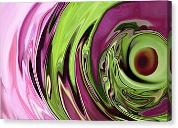 Clematis Eye Canvas Print by Linnea Tober