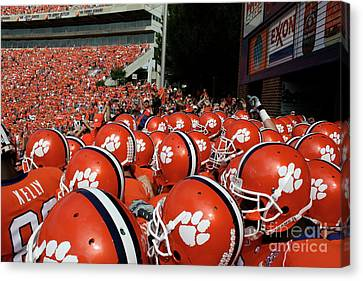 Clemson Tigers Canvas Print by Taylor C Jackson