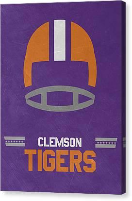 Clemson Tigers Vintage Football Art Canvas Print by Joe Hamilton