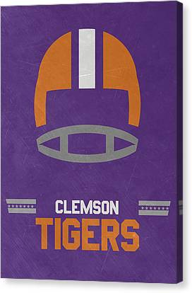 Clemson Tigers Vintage Football Art Canvas Print by Joe Hamilton