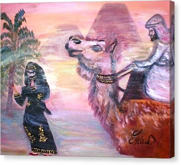 Cleo Canvas Print by Helena Bebirian