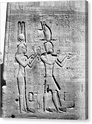 Cleopatra And Caesarion, Temple Canvas Print by Science Source