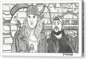 Clerks 2 Jay And Silent Bob Canvas Print by Jeremy Waters