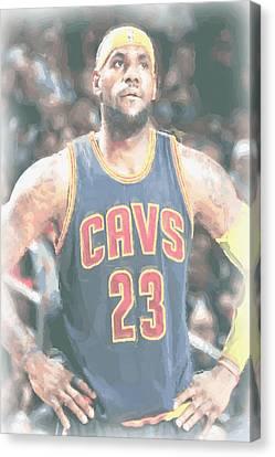 Cleveland Cavaliers Lebron James 5 Canvas Print by Joe Hamilton