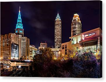 Cleveland Night Hype Canvas Print by Brad Hartig - BTH Photography