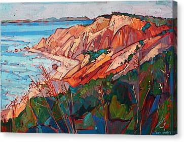 Cliffs In Color Canvas Print by Erin Hanson