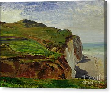 Cliffs Canvas Print by Louis Eugene Gabriel Isabey