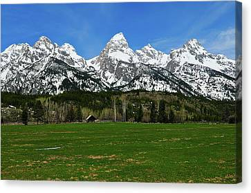 Climbers Ranch In Spring Canvas Print by Greg Norrell