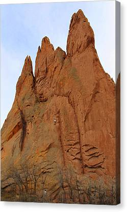 Climbing With The Gods Canvas Print by Mike McGlothlen