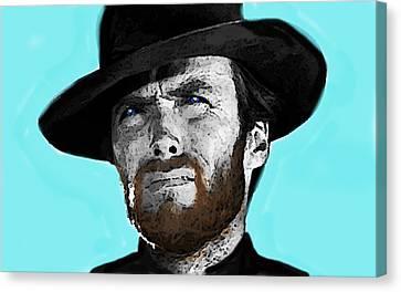 Clint Eastwood 1  Canvas Print by Enki Art