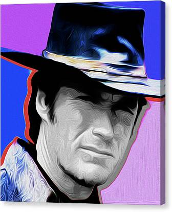 Clint Eastwood #21a By Nixo Canvas Print by Nicholas Nixo