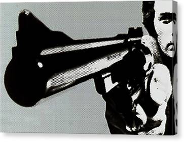 Clint Eastwood Big Gun Canvas Print by Tony Rubino