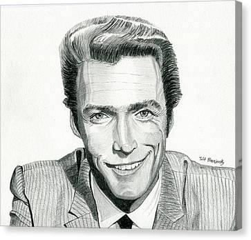 Clint Eastwood Canvas Print by Jeff Blazejovsky