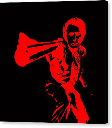 Clint Eastwood Red Canvas Print by Brian Reaves
