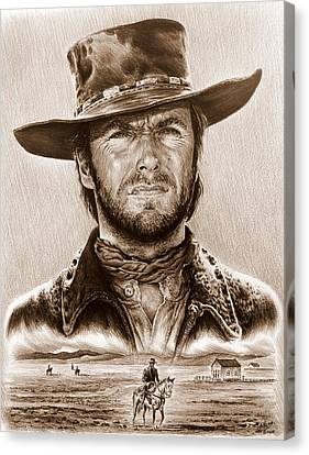 Clint Eastwood The Stranger Canvas Print by Andrew Read