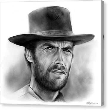 Clint Canvas Print by Greg Joens