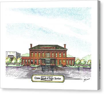 Clinton School Of Public Service Canvas Print by Yang Luo-Branch