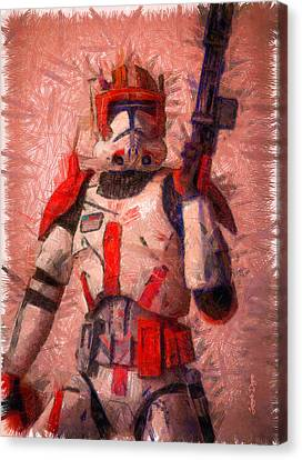 Clone Commander Cody  - Pencil Style -  - Da Canvas Print by Leonardo Digenio