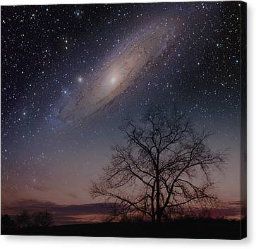 Close Encounters - Andromeda Canvas Print by Charles Warren