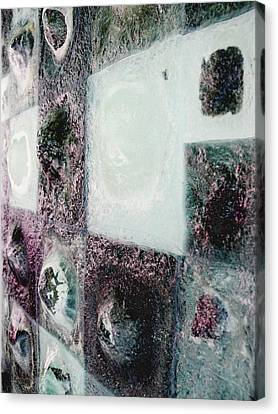 close up of Country Hills panel 5 Canvas Print by Sarah King