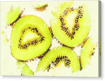 Close Up Of Kiwi Slices Canvas Print by Jorgo Photography - Wall Art Gallery