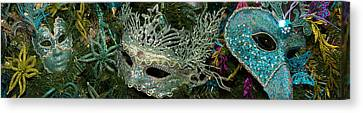 Close-up Of Venetian Masks Canvas Print by Panoramic Images