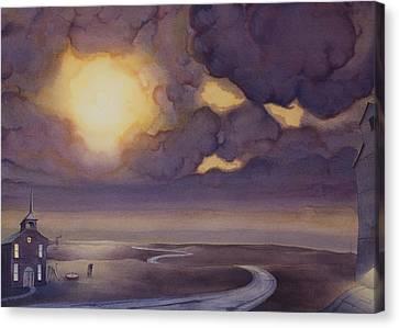 Cloud Break On The Northern Plains II Canvas Print by Scott Kirby