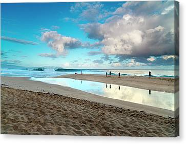 Cloud Reflections Canvas Print by Sean Davey