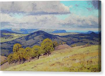 Cloud Shadows Over The Kanimbla Valley Canvas Print by Graham Gercken