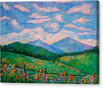 Cloud Swirl Over The Peaks Of Otter Canvas Print by Kendall Kessler