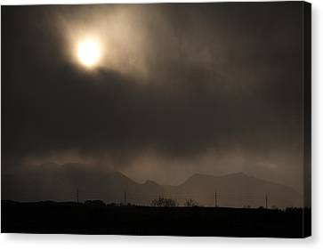 Clouded Sun Canvas Print by Marilyn Hunt
