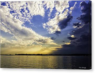 Clouds At Twilight Canvas Print by Fran Gallogly