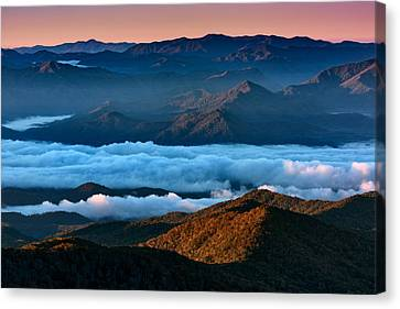 Clouds In The Valley Canvas Print by Rick Berk