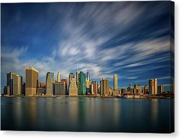 Clouds Over New York Canvas Print by Rick Berk