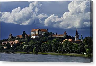Clouds Over Ptuj Castle Canvas Print by Ivan Slosar