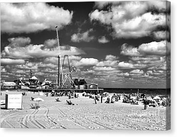Clouds Over Seaside Heights Mono Canvas Print by John Rizzuto