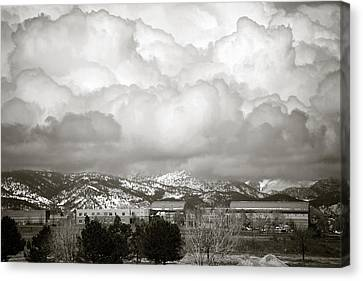 Clouds Rolling In 1 Canvas Print by Marilyn Hunt