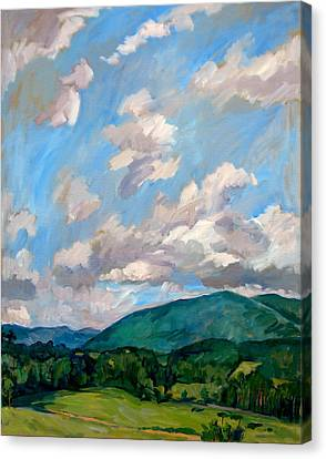 Cloudy Day Berkshires Canvas Print by Thor Wickstrom