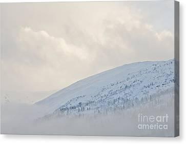 Cloudy Mountain Canvas Print by Sverre Andreas Fekjan