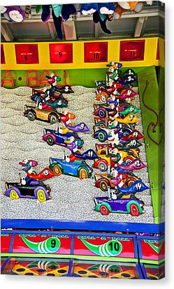 Clown Car Racing Game Canvas Print by Garry Gay