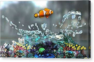 Clown Fish Collection Canvas Print by Marvin Blaine