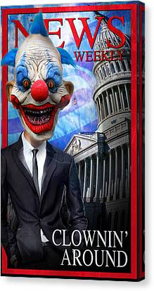 Clown In Washington Canvas Print by Daniel Gilbreath