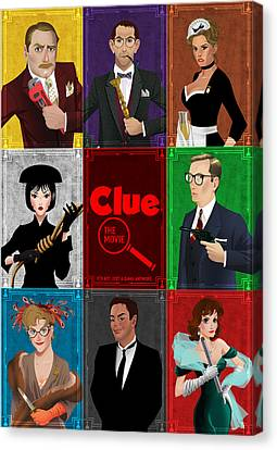 Clue Canvas Print by Christopher Ables