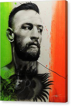 Conor Mcgregor - ' C. M. G. ' Canvas Print by Christian Chapman Art
