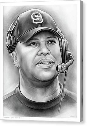 Coach David Shaw Canvas Print by Greg Joens