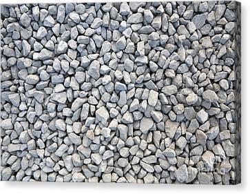 Coarse Gravel - Stone Texture Canvas Print by Michal Boubin