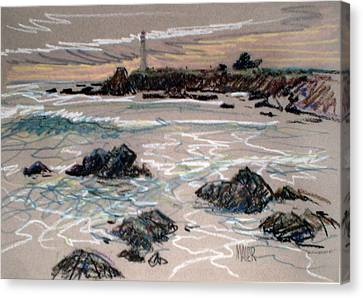 Coast At Pigeon Point Lighthouse Canvas Print by Donald Maier