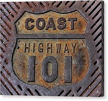 Coast Highway 101 Canvas Print by Russ Harris