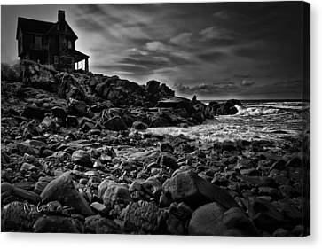 Coastal Home  Kennebunkport Maine Canvas Print by Bob Orsillo