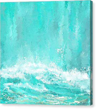 Coastal Inspired Art Canvas Print by Lourry Legarde